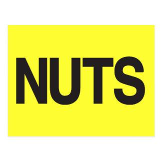 Nuts - Popular American Saying Postcard