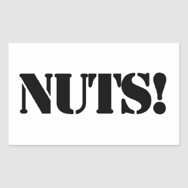 nuts rectangular sticker