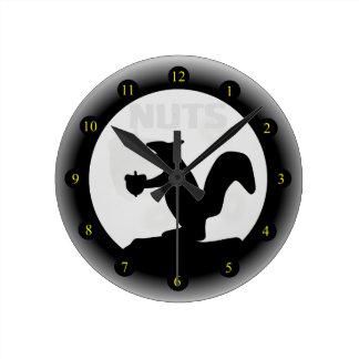Nuts Round Clock