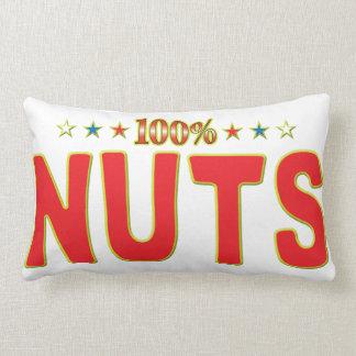 Nuts Star Tag Throw Pillows