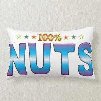 Nuts Star Tag v2 Throw Pillow