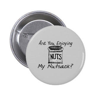 Nutsack Pinback Button