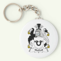 Nuttall Family Crest Keychain