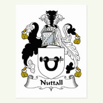 Nuttall Family Crest Postcard