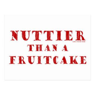 Nuttier Than a Fruitcake Post Card