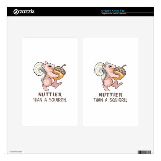 Nuttier than Squirrel Kindle Fire Skin