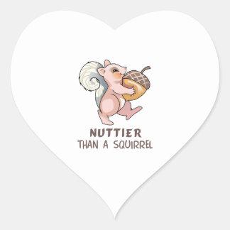 Nuttier than Squirrel Heart Stickers