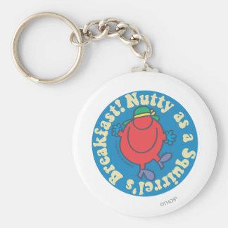 Nutty as a Squirrel's Breakfast! Basic Round Button Keychain