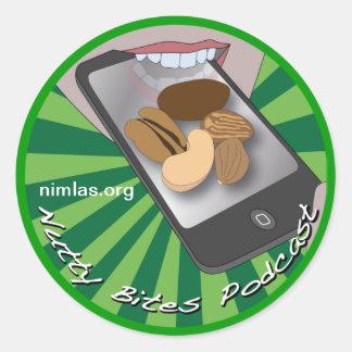 Nutty Bites Button Sticker