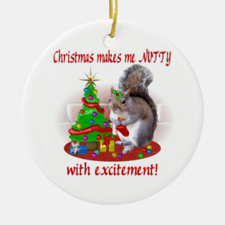 Nutty Christmas Squirrel Ornament