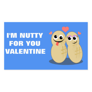 Nutty For You Mini Valentine Business Card Templates