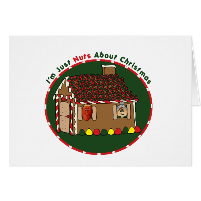 Nutty Gingerbread House Card