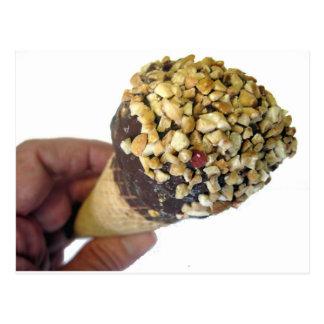 Nutty Ice Cream Cone Postcard