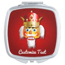 Nutty Nutcracker King Cartoon Compact Mirror
