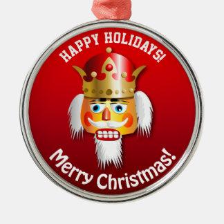 Nutty Nutcracker King Cartoon Metal Ornament