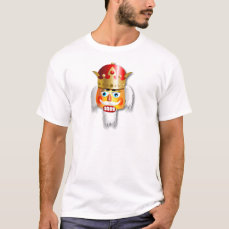 Nutty Nutcracker King Cartoon T-Shirt