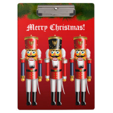 Nutty Nutcracker Soldiers In Military Uniforms Clipboard