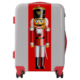 Nutty Nutcracker Toy Soldier Cartoon Luggage