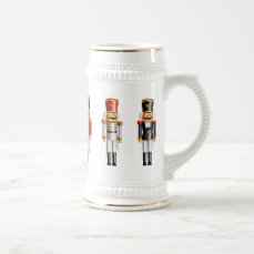 Nutty Nutcrackers Toy Soldiers Army Beer Stein