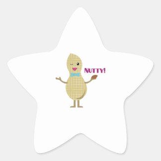 Nutty Peanut Star Sticker
