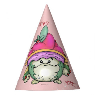 NUTTY PUFF ALIEN CHRISTMAS  CARTOON PARTY HAT