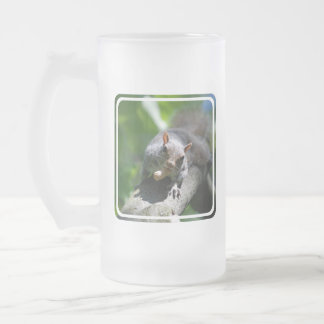 Nutty Squirrel Frosted Beer Mug