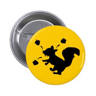 Nutty Squirrel Pinback Button