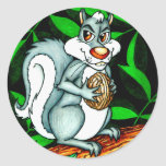 Nutty Squirrel Round Sticker