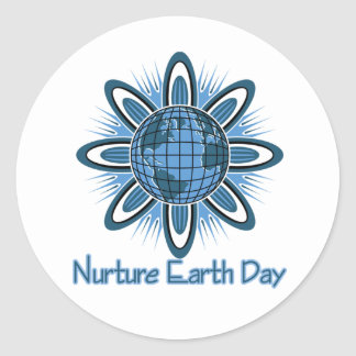 Nuture Earth Day Classic Round Sticker