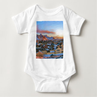 Nuuk City Greenland by Ozborne Whilliansson Baby Bodysuit