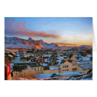 Nuuk City Greenland by Ozborne Whilliansson Card