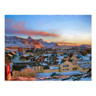 Nuuk City Greenland by Ozborne Whilliansson Postcard