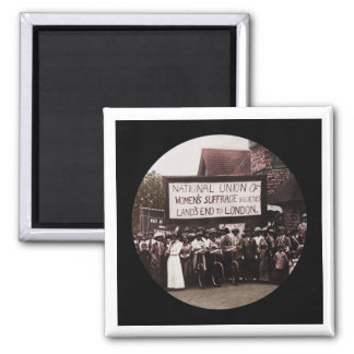 NUWSS Pilgrim Lands End Run to London 2 Inch Square Magnet