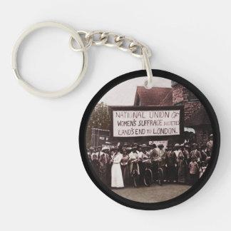 NUWSS Pilgrim Lands End Run to London Keychain