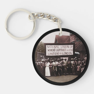 NUWSS Pilgrim Lands End Run to London Single-Sided Round Acrylic Keychain