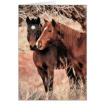 Nuzzling Horses Card