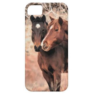 Nuzzling Horses iPhone SE/5/5s Case