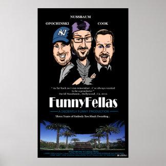 Nuzzy y el poster de FunnyFellas del individuo