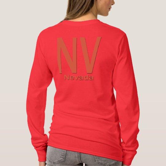 NV Nevada plain orange T-Shirt