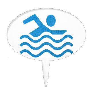 NVN24 navinJOSHI Swimming Sucess Swim Swimmer 101 Cake Topper