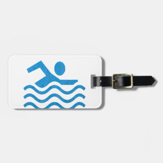 NVN24 navinJOSHI Swimming Sucess Swim Swimmer 101 Luggage Tag