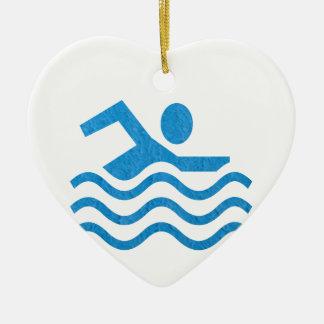 NVN24 navinJOSHI Swimming Sucess Swim Swimmer 101 Christmas Tree Ornament