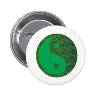 NVN27 navinJOSHI Green Balance YIN YANG Chinese Buttons