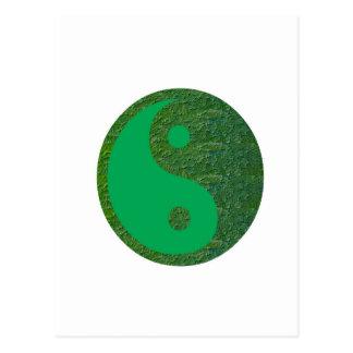 NVN27 navinJOSHI Green Balance YIN YANG Chinese Postcard