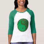 NVN27 navinJOSHI Green Balance YIN YANG Chinese Tee Shirt