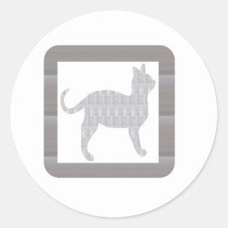 NVN352 Cat Kat Billi Pet Animal Doll Game Kids FUN Round Stickers