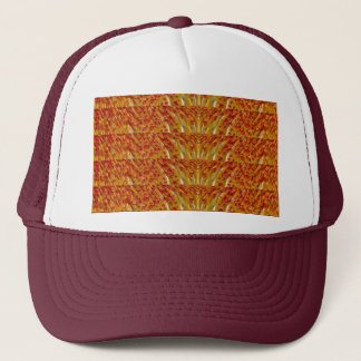 NVN35 navinJOSHI Sparkle Gold n Red Pattern GIFTS Trucker Hat