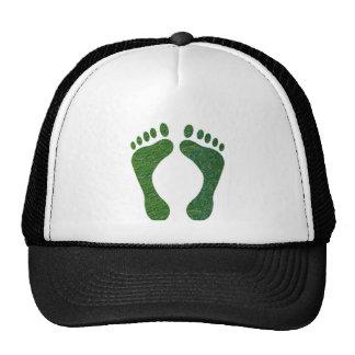 NVN36 navinJOSHI Green FOOTprint EarthDay Warming Trucker Hat