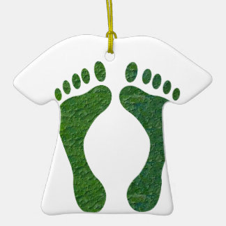 NVN36 navinJOSHI Green FOOTprint EarthDay Warming Christmas Tree Ornaments
