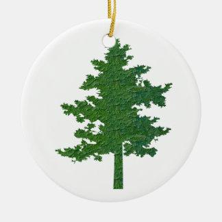 NVN37 navinJOSHI Symbolic Green Environment Tree Christmas Tree Ornament